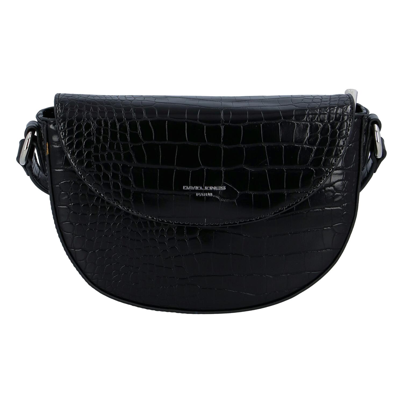 Dámská luxusní crossbody kabelka černá - David Jones Safiuly černá