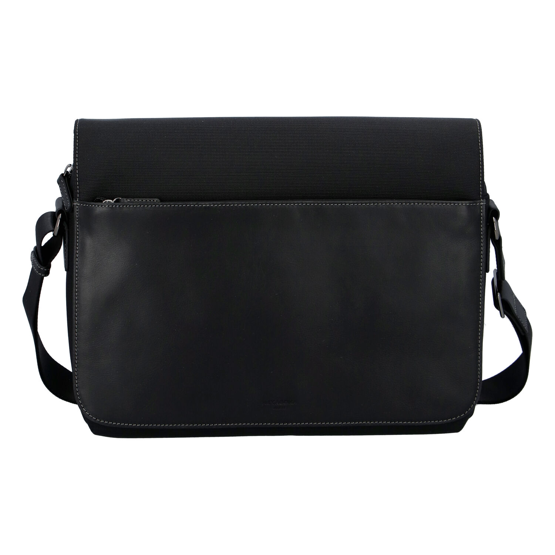 Pánská kožená taška přes rameno černá - Hexagona 296181 černá