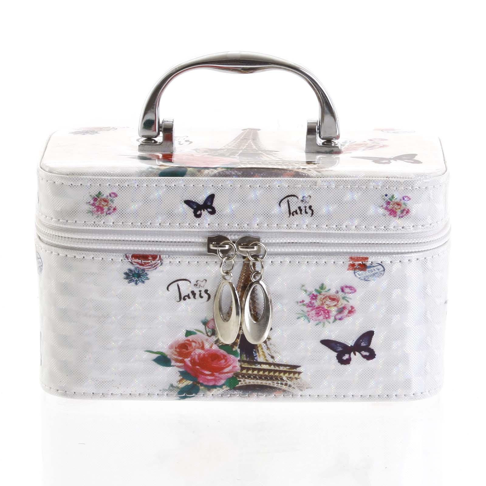 Dámský kosmetický kufřík bílý - Yoody S bílá