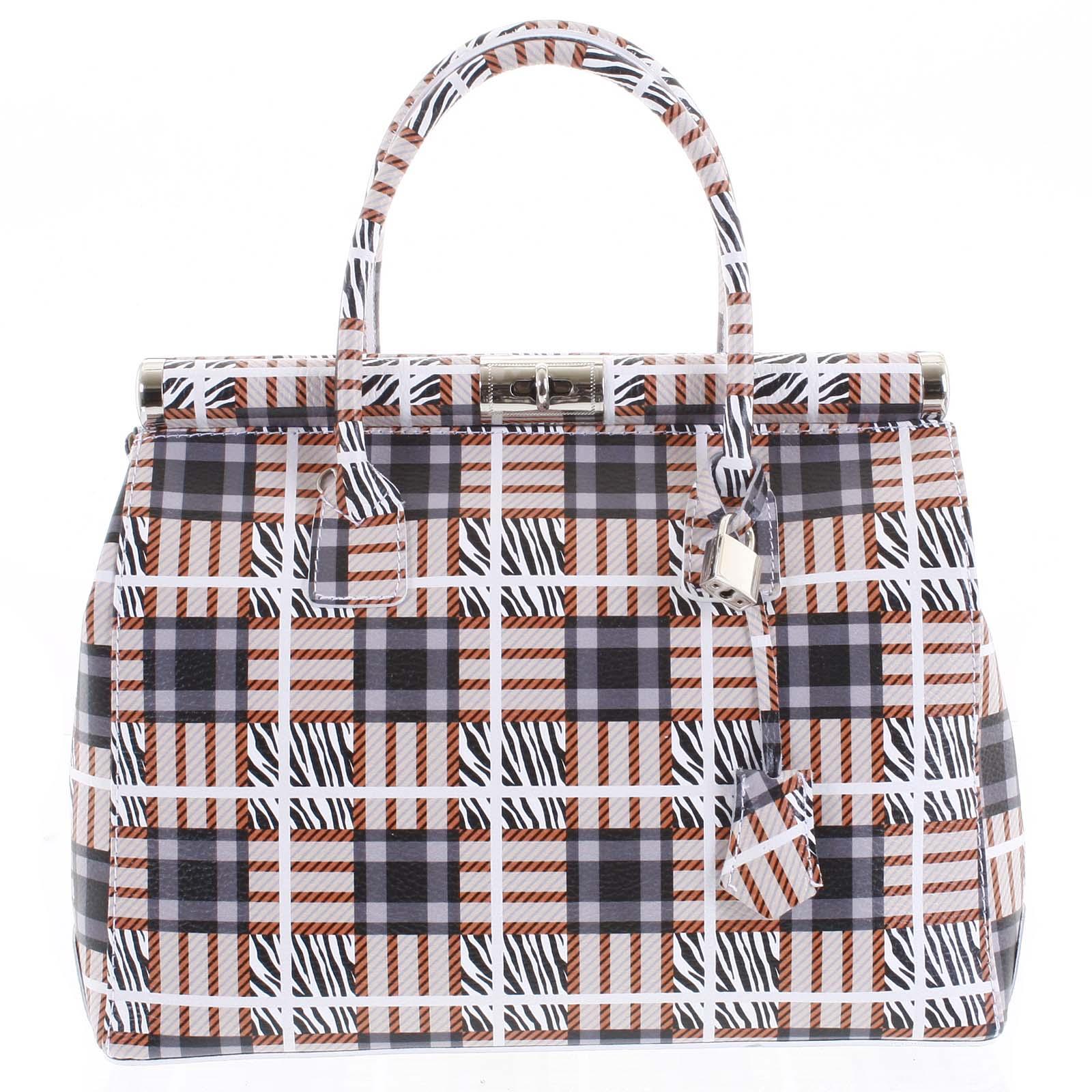 Módní originální dámská kožená kabelka do ruky barevná - ItalY Hila barevná