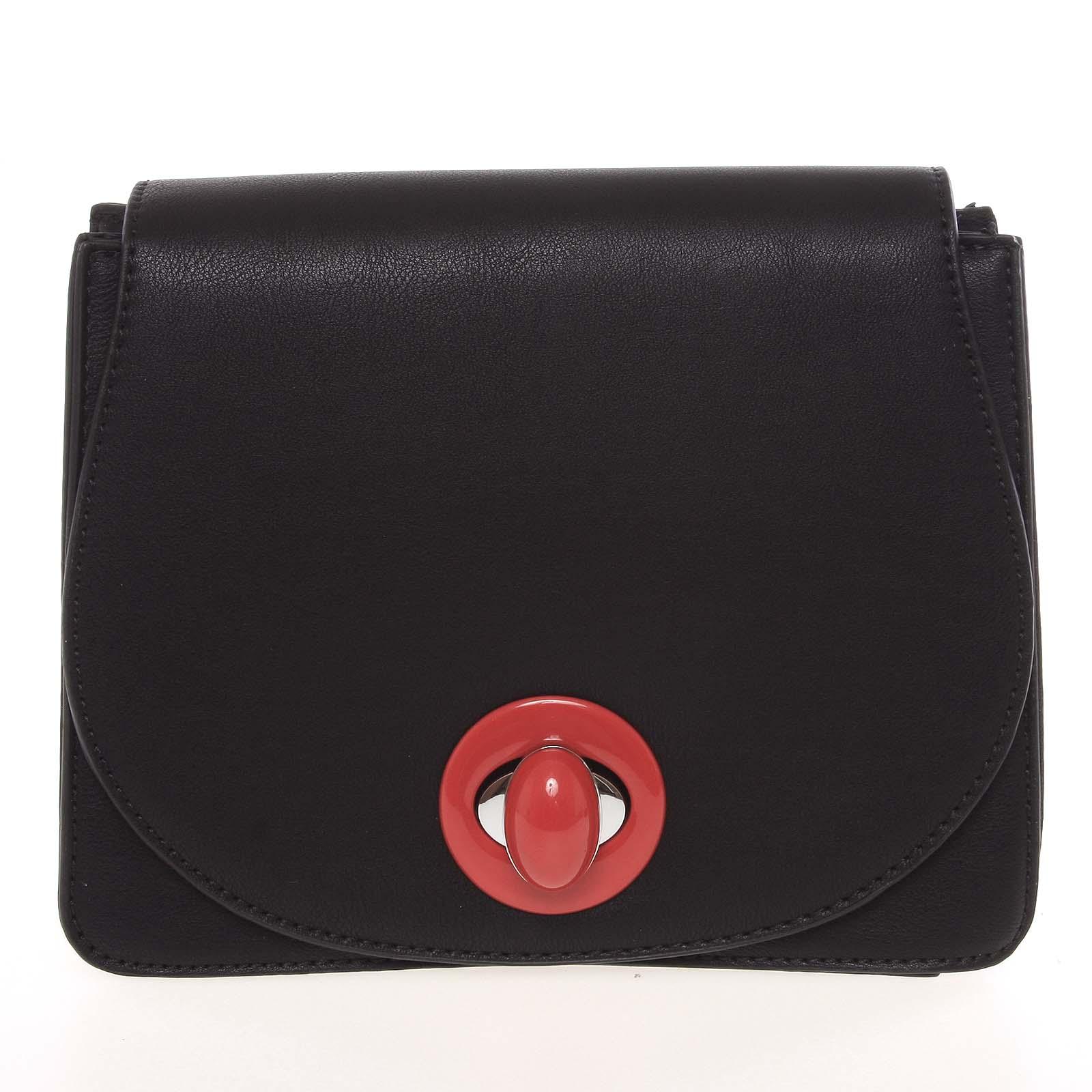 Moderní pevná dámská crossbody kabelka černá - Silvia Rosa Stacey černá