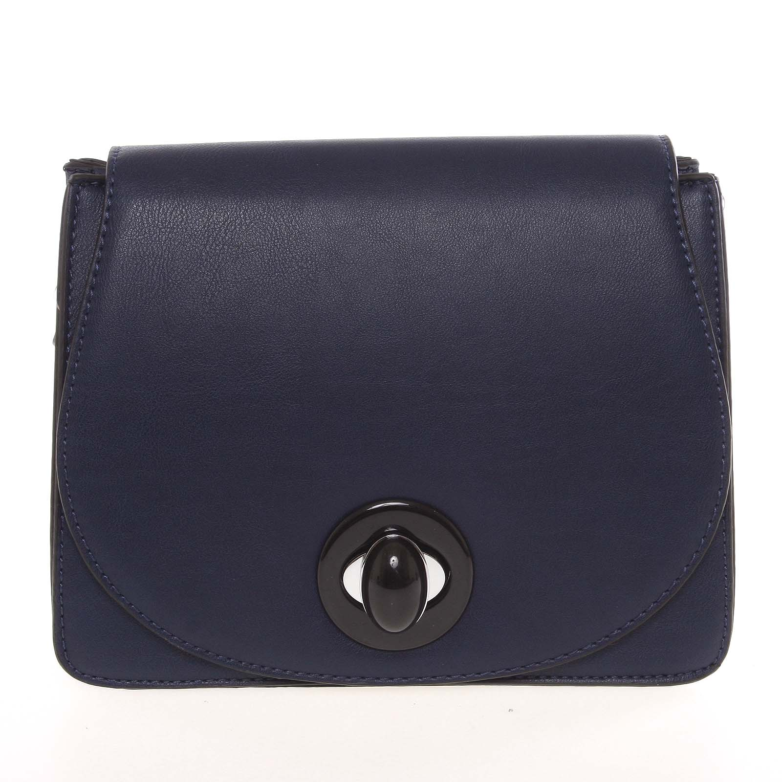 Moderní pevná dámská crossbody kabelka tmavě modrá - Silvia Rosa Stacey modrá
