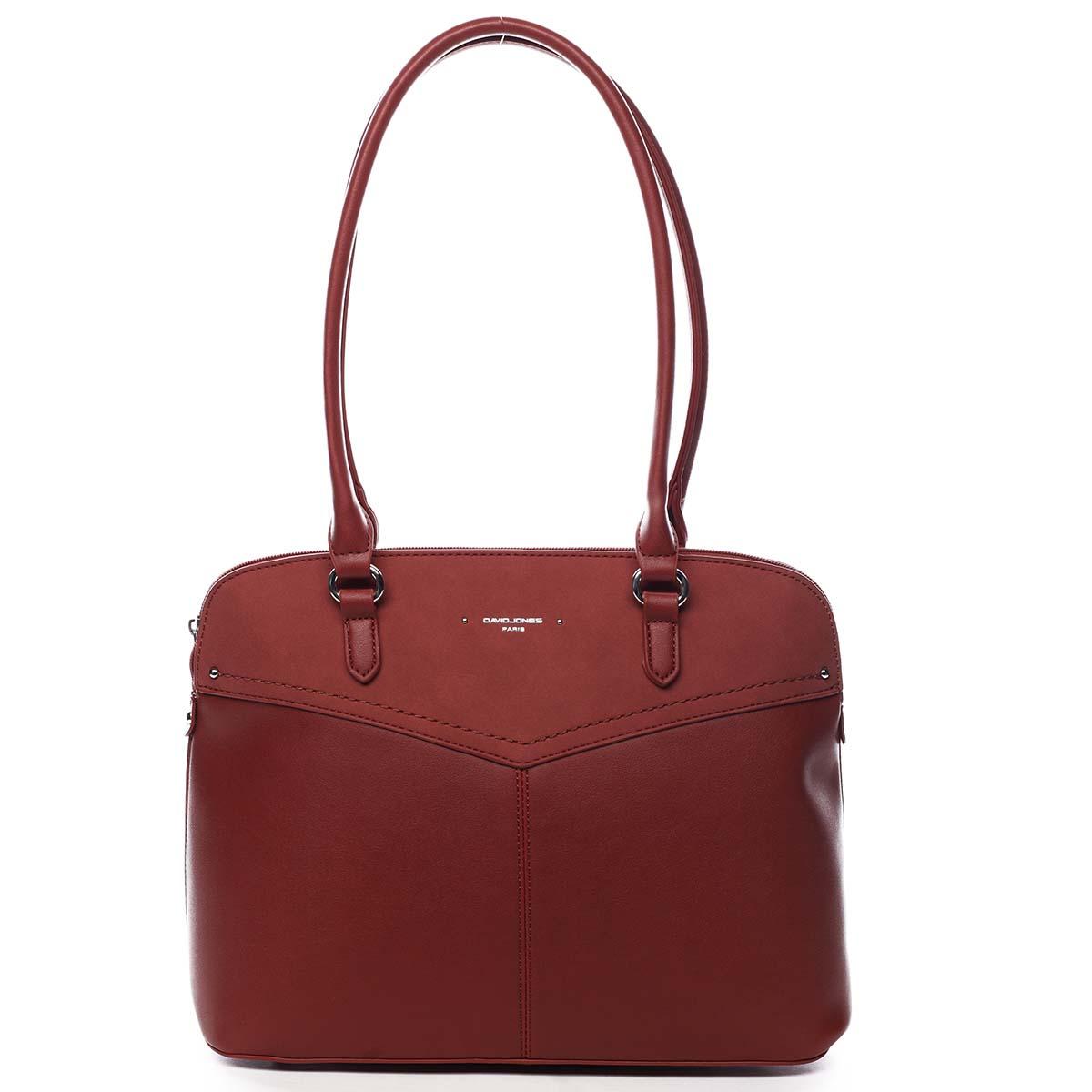 Dámská kabelka přes rameno červená - David Jones Ranasma červená