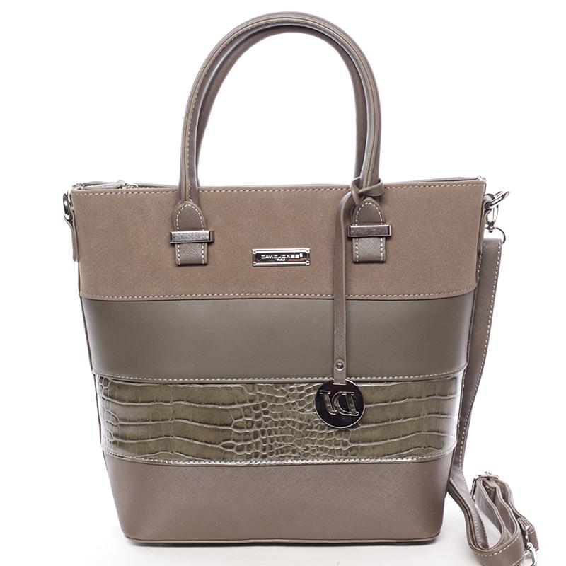 Luxusní dámská kabelka do ruky khaki - David Jones Osetie Khaki