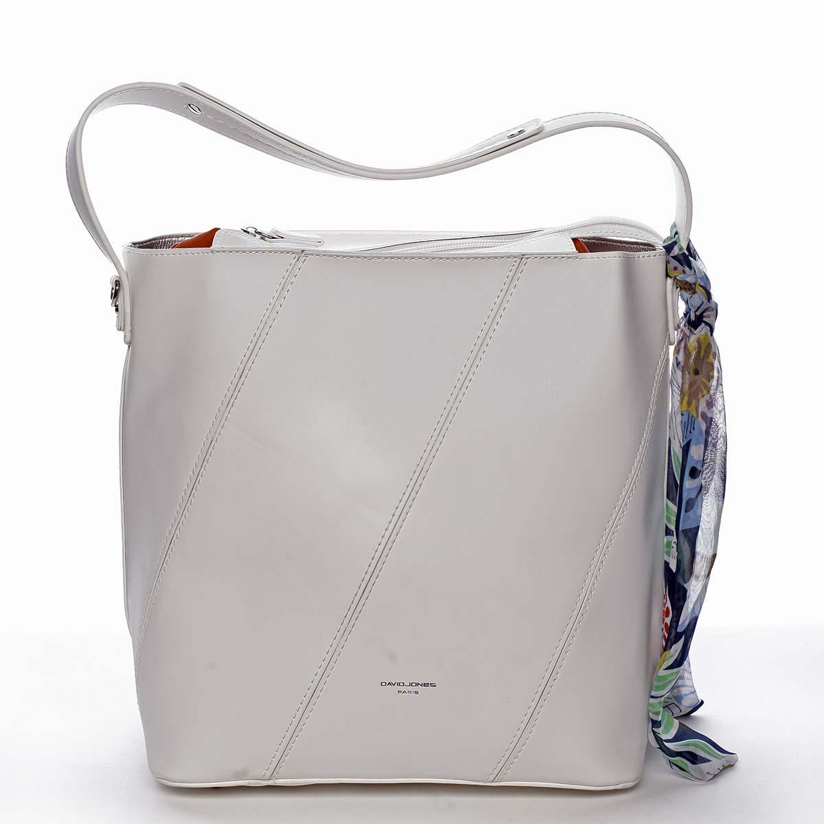 Elegantní dámská kabelka přes rameno bílá - David Jones Abena bílá