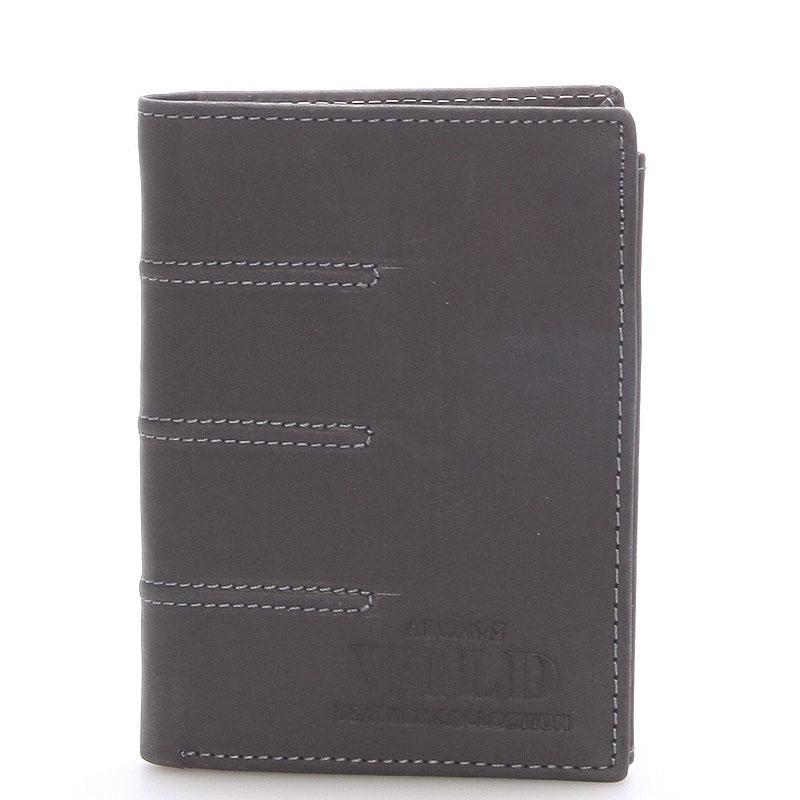 Pánská kožená peněženka černá - WILD Dyson černá