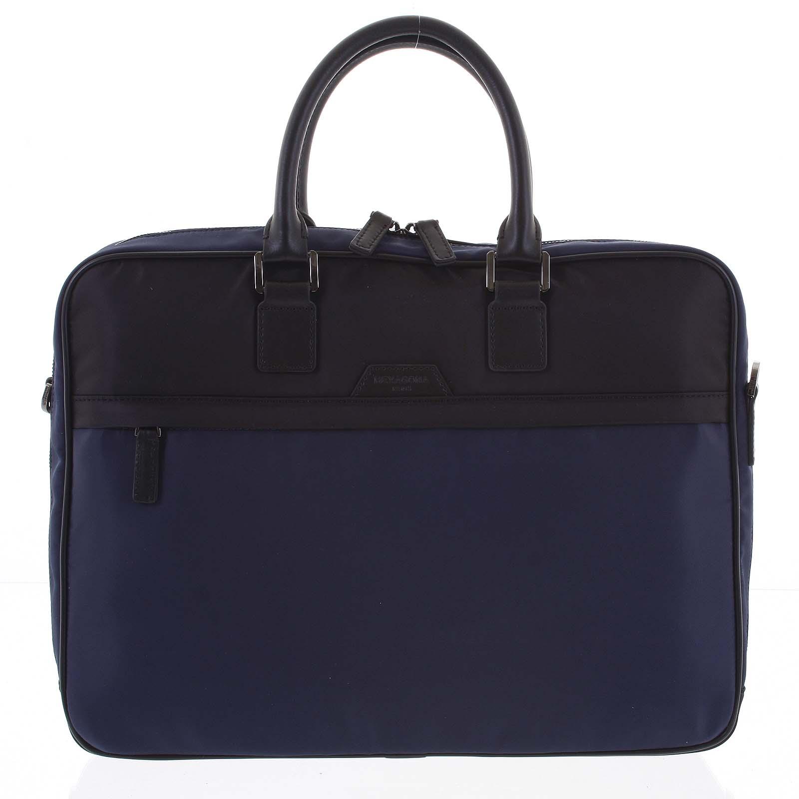 Pánská taška na notebook modro černá - Hexagona Aslan modrá