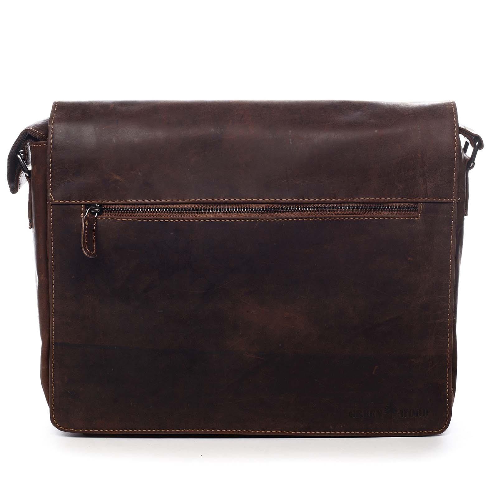 Pánská kožená taška hnědá - Greenwood Manifico hnědá