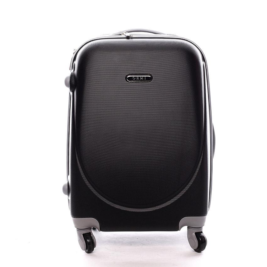 Levně Pevný cestovní kufr černý - Ormi Evenger S