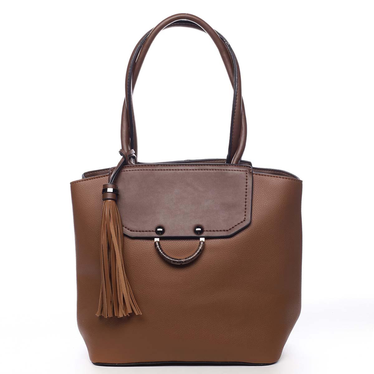 Dámská kabelka přes rameno hnědá - Maria C Irina hnědá