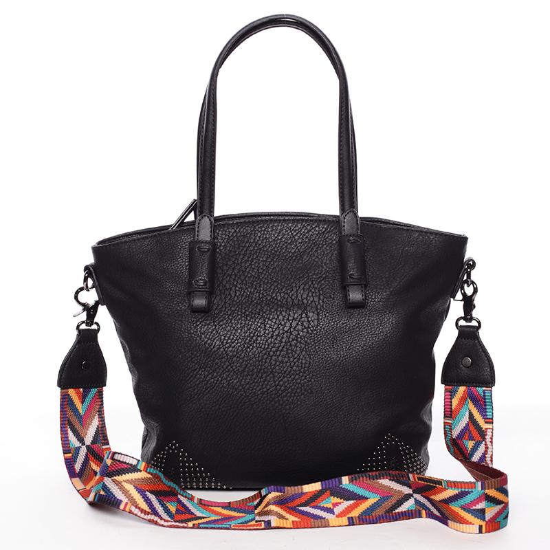 Jemná elegantní dámská černá kabelka - Maria C Grete černá