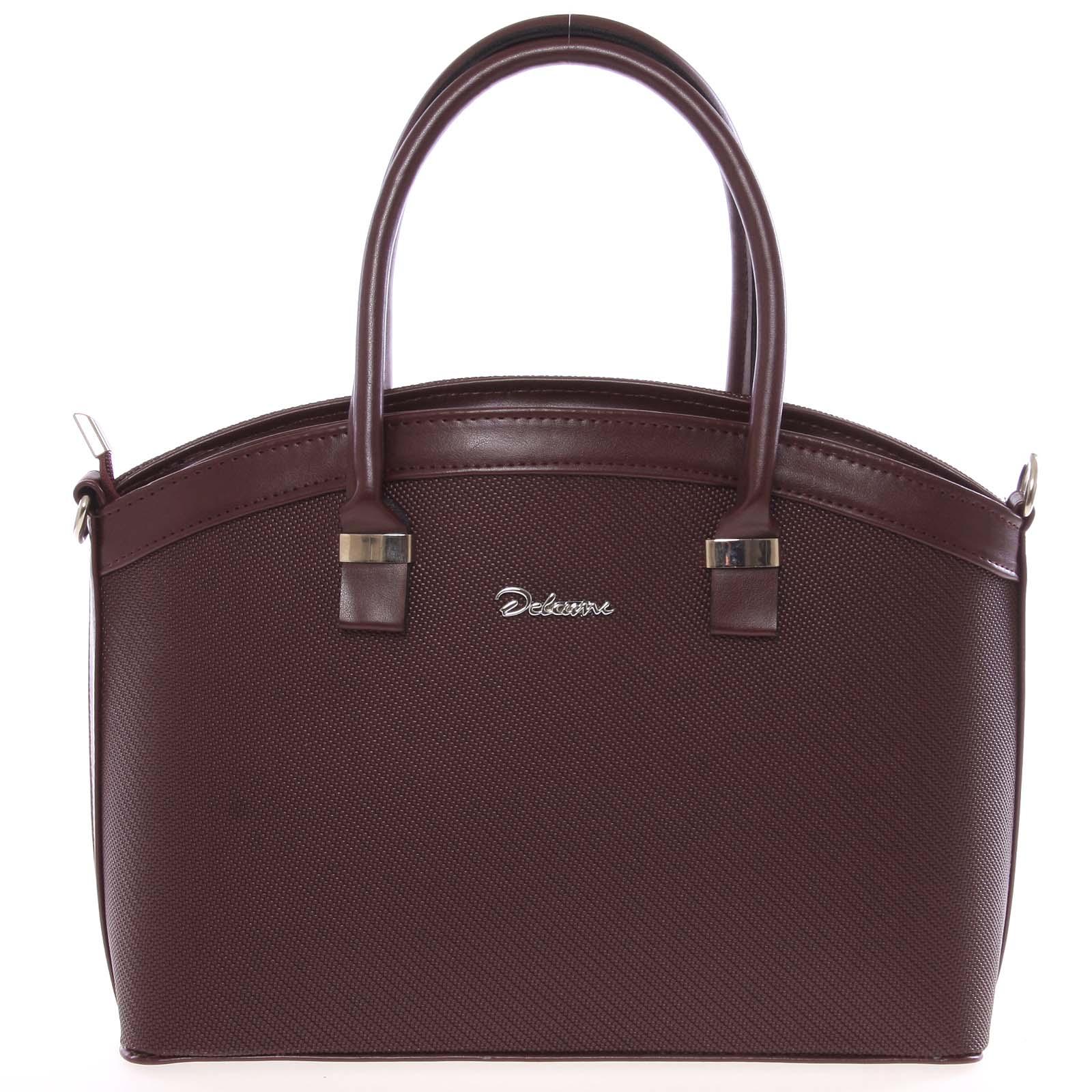 Elegantní vínová dámská kabelka do společnosti - Delami Renee vínová