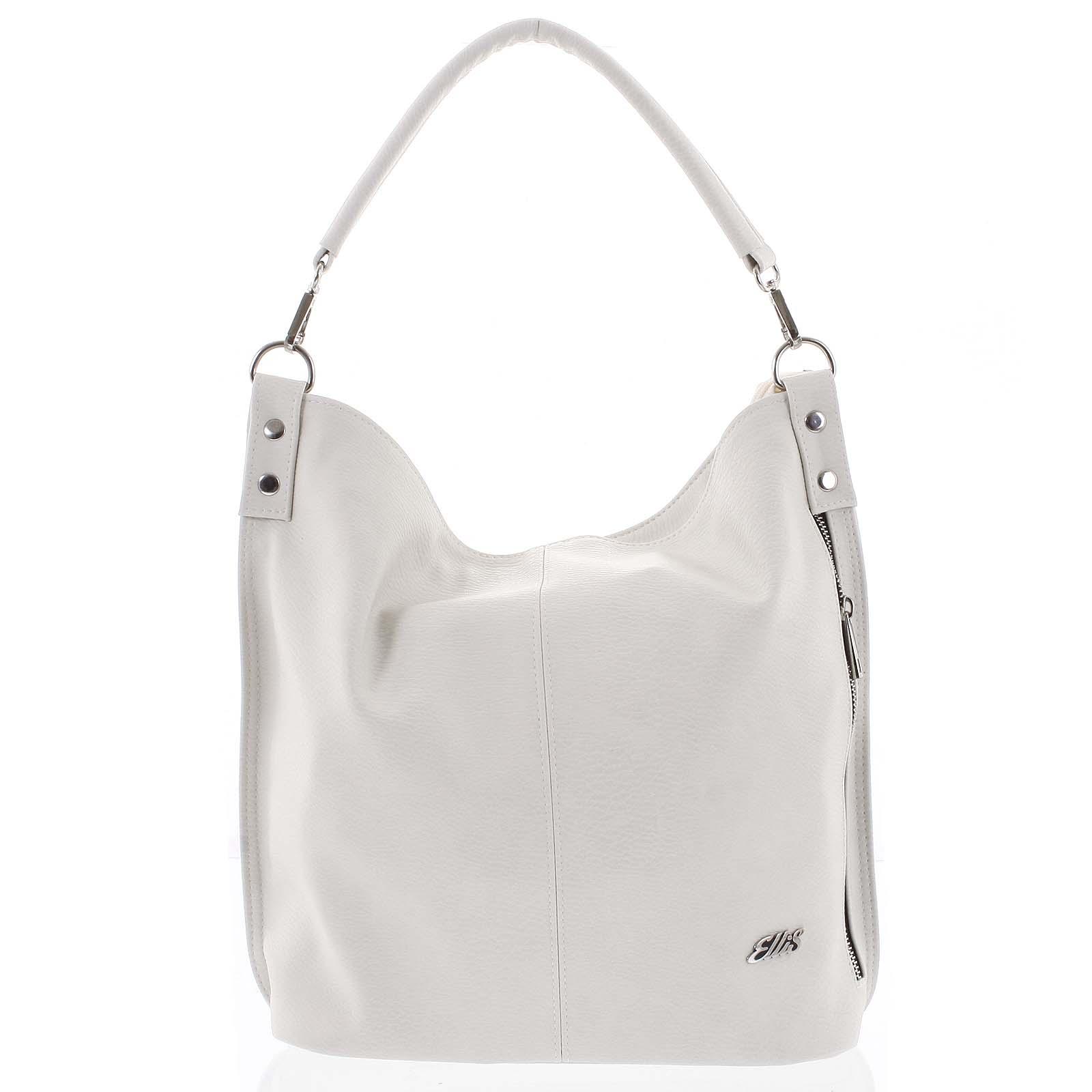 Elegantní dámská kabelka přes rameno krémově bílá - Ellis Negina bílá
