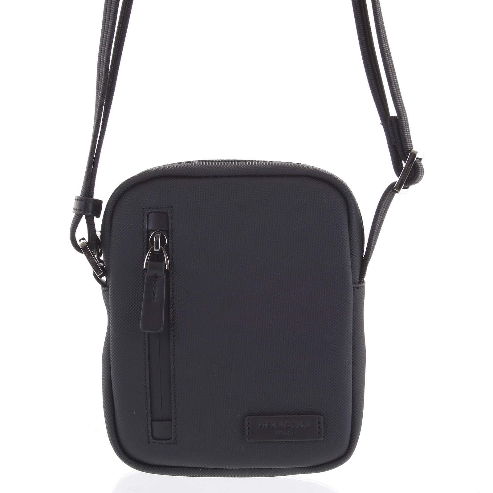 Levně Pánská taška na doklady černá - Hexagona Adilson