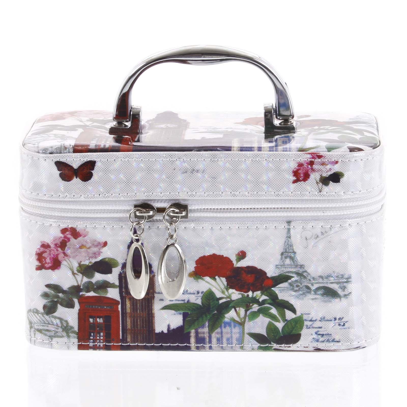 Dámský kosmetický kufřík bílý - Yoody B S barevná