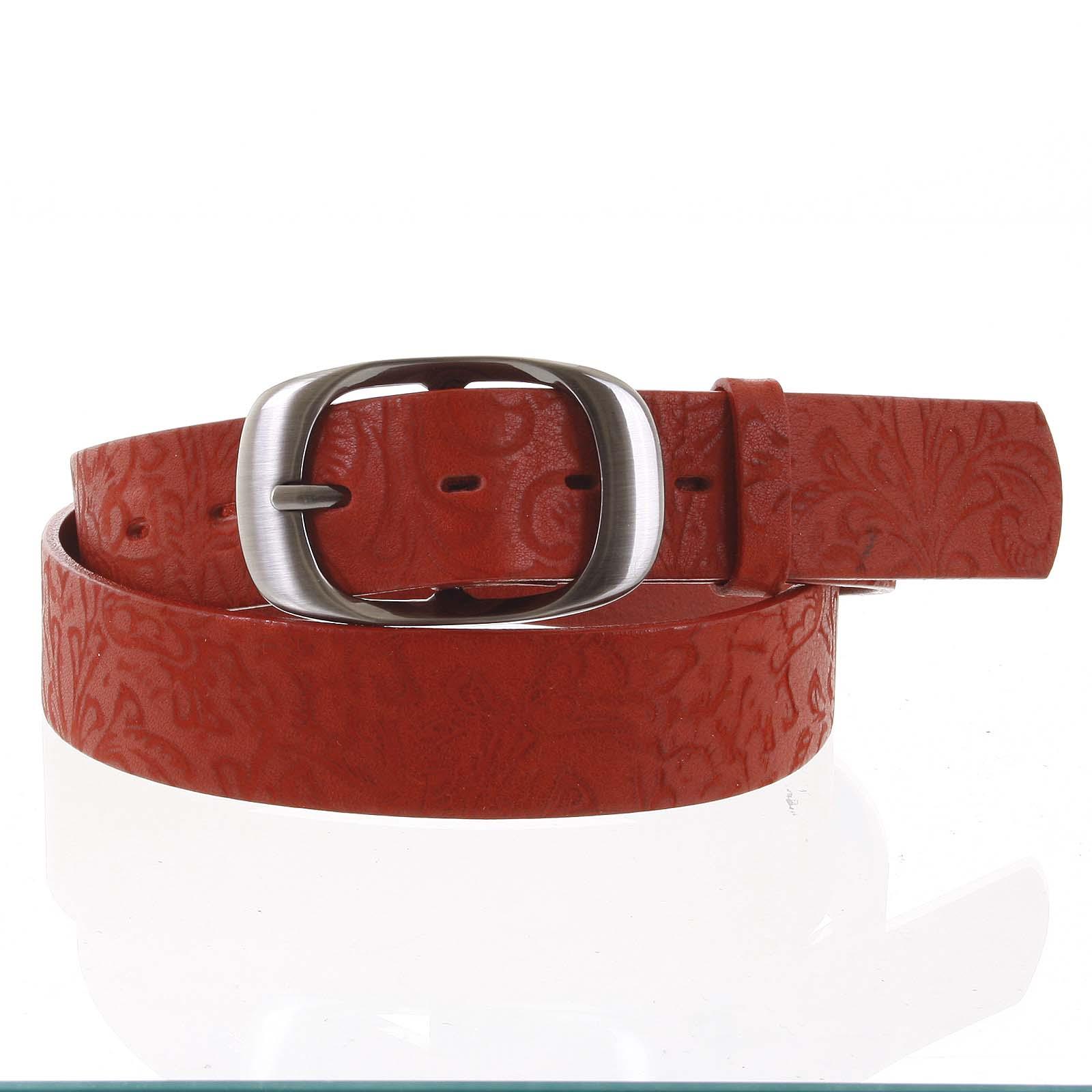 Levně Dámský kožený opasek červený - PB Spar 90