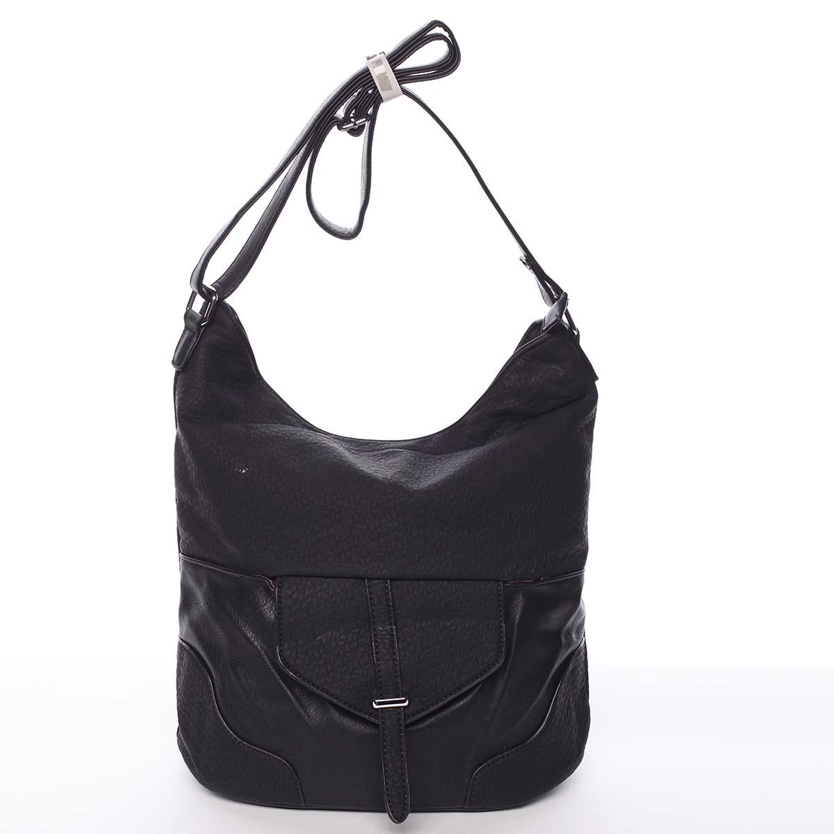 Elegantní dámská kabelka přes rameno černá - Silvia Rosa Yahaira černá