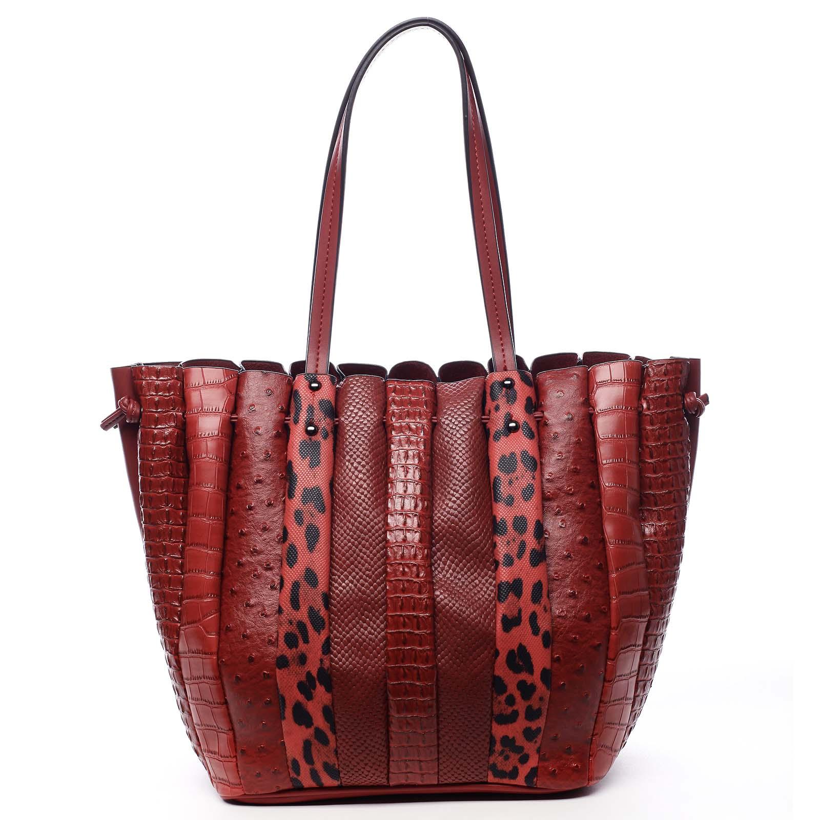 Dámská kabelka přes rameno červená - Dudlin Tola červená