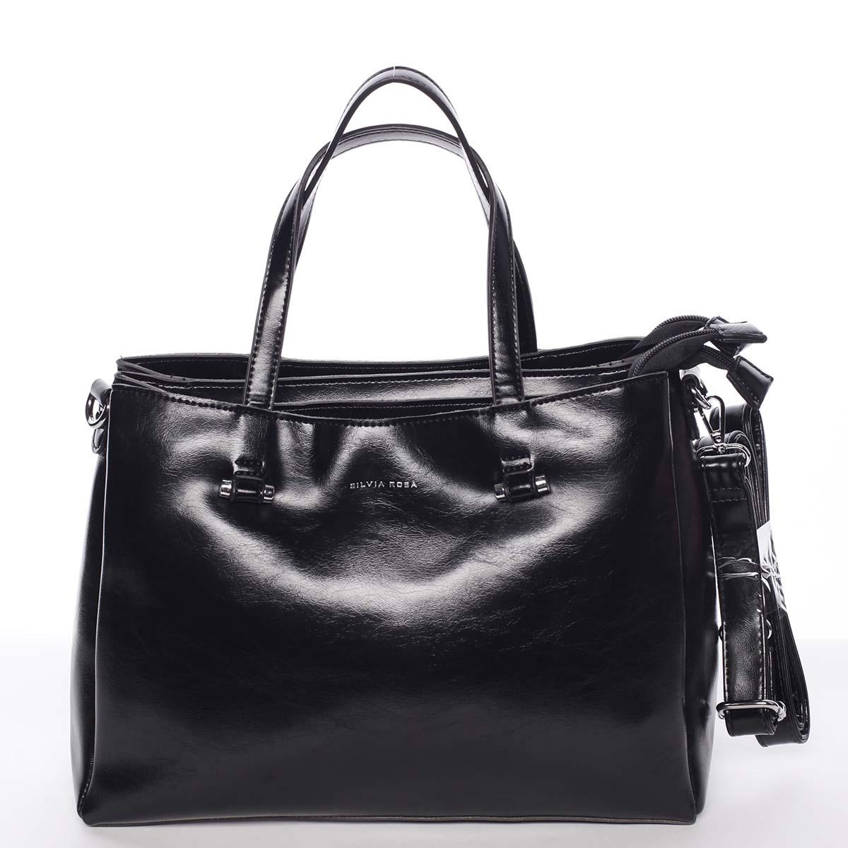 Černá elegantní kabelka - Silvia Rosa Saba černá