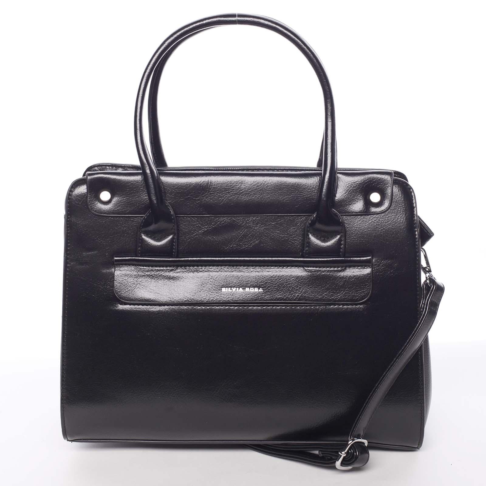 Elegantní pevná dámská kabelka do ruky černá - Silvia Rosa Takeon černá