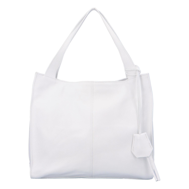 Dámská kožená kabelka bílá - ItalY Methy bílá