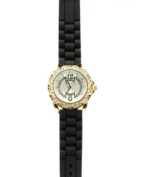 Dámské zlaté hodinky s kamínky - Kabea.cz a0da450b5aa