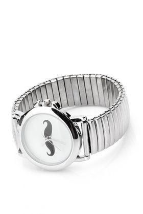 b43585513c8 Stříbrné dámské hodinky s knírem - Kabea.cz