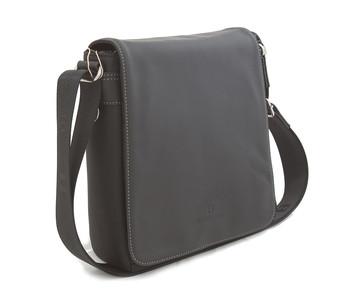 Černá kožená taška přes rameno Hexagona 299156 - Kabea.cz