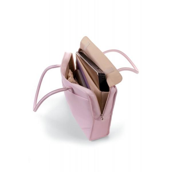 5d5f91b61858 Růžová kabelka-brašna LadyAllure na notebook N18808K - Kabea.cz