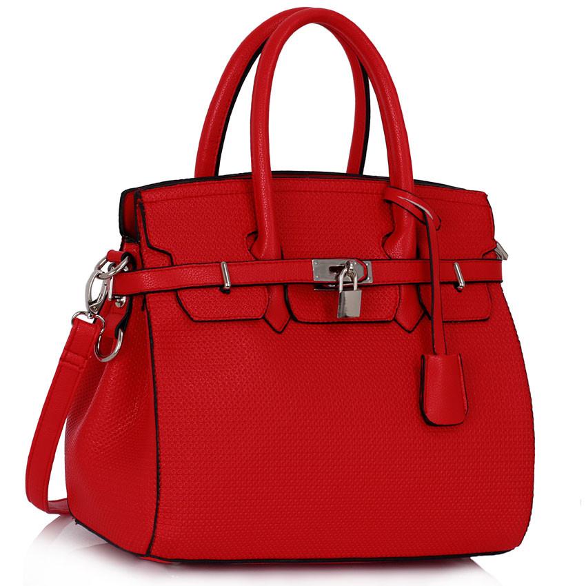 39fc68ed85aa Červená kabelka LS fashion LS00140 - Kabea.cz