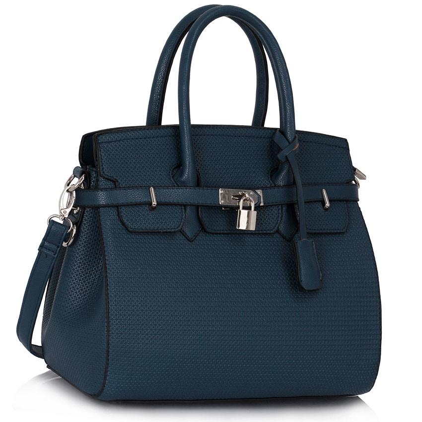 Modrá kabelka LS fashion LS00140 - Kabea.cz 538c57eac9