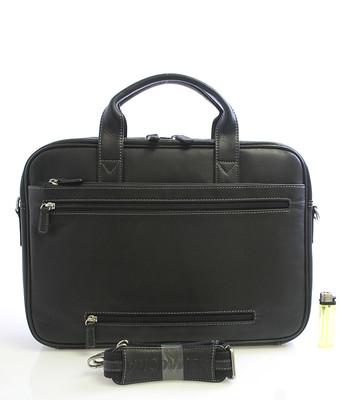 Černá kožená taška Hexagona 62544 - Kabea.cz