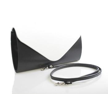 Luxusní černo-bílé matné psaníčko Royal Style R002 - Kabea.cz