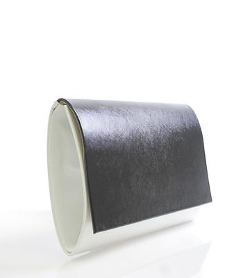 Luxusní bílé lakované psaníčko Royal Style 0025 s černou klopou ...