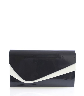 Černo-bílé lakované psaníčko Royal Style 0028