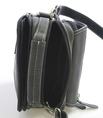 Černá kožená taška přes rameno SendiDesign Rico - Kabea.cz