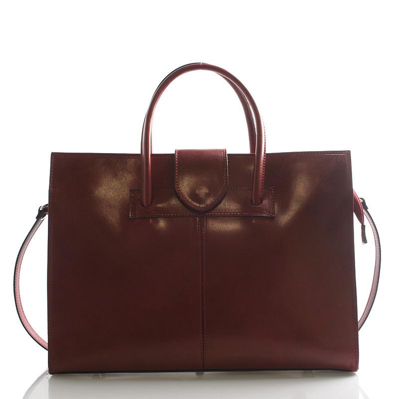 Luxusní kožená aktovka kabelka červená - Italy Gabriela - Kabea.cz 6cb82083c7b