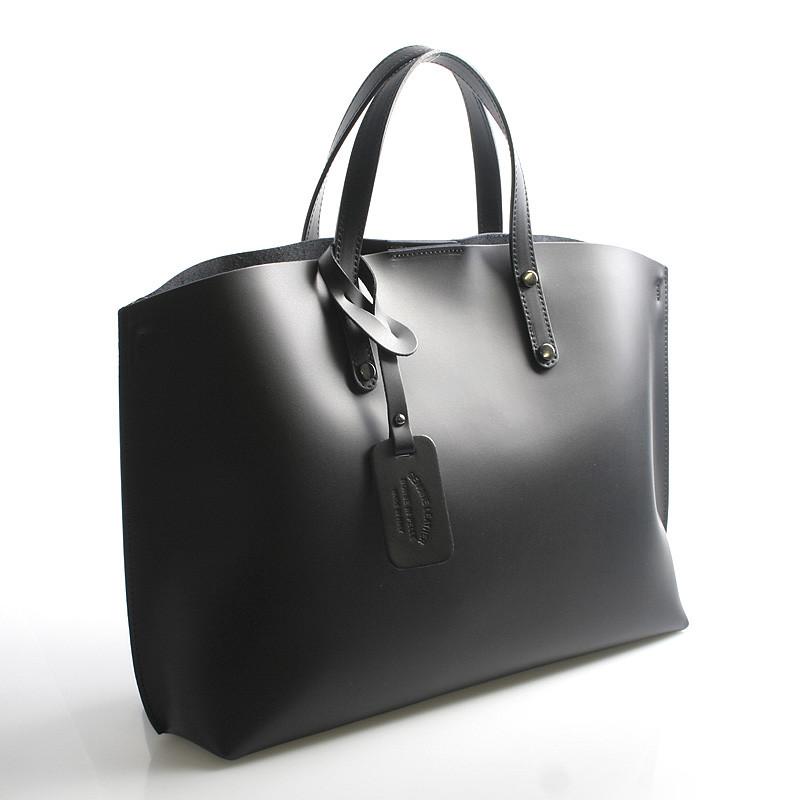 Černá kožená kabelka do ruky ItalY Jordana - Kabea.cz 834005e97f