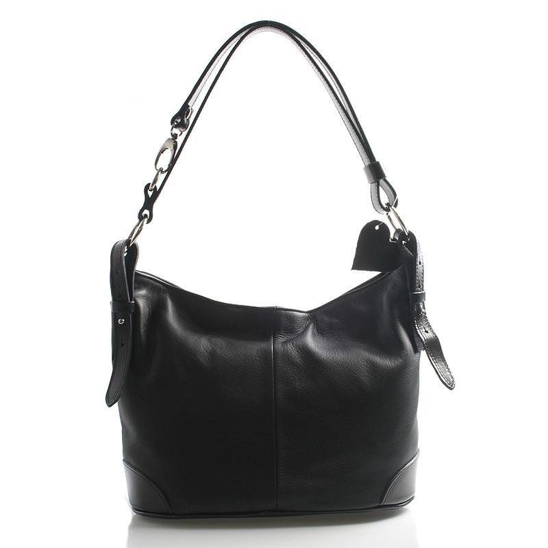 79a842c3a4 Černá kožená kabelka přes rameno crossbody ItalY Harmony - Kabea.cz