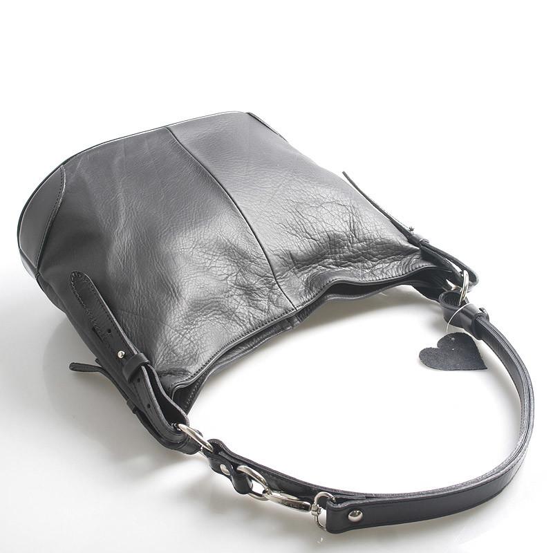 27bca5014ad91 Černá kožená kabelka přes rameno crossbody ItalY Harmony - Kabea.cz