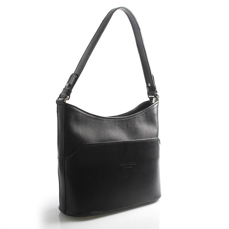 b1ad3b620a Černá kožená kabelka přes rameno ItalY Lydia - Kabea.cz