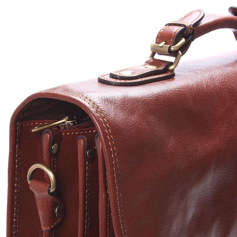 Luxusní pánská kožená aktovka hnědá - Hexagona Ruperto - Kabea.cz 6b64dae5127