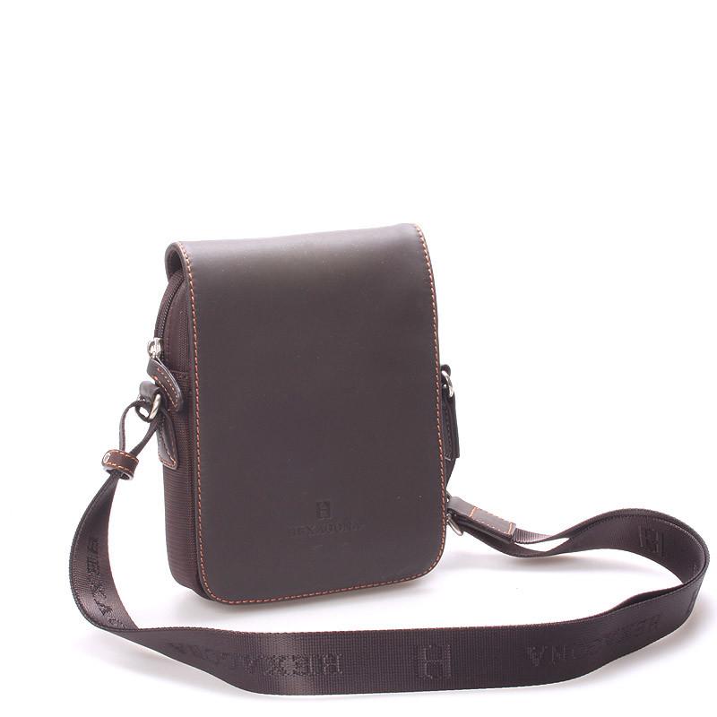Luxusní pánská kožená kabelka přes rameno hnědá - Hexagona Filippo ... fe7f7923b6b