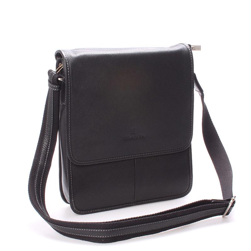 b9f0490602 Luxusní pánská kožená taška přes rameno černá - Hexagona Marco ...