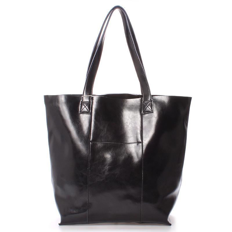021eb2ddad0c4 Luxusní dámská kožená kabelka přes rameno černá - LEESUN Mattia ...