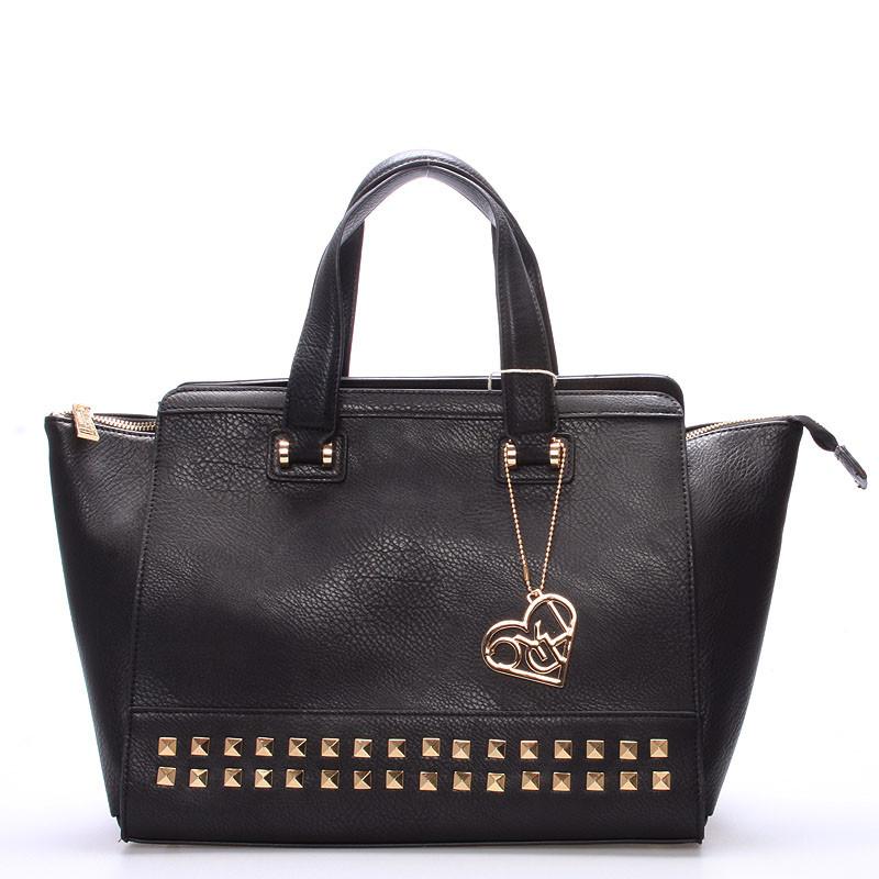 126601fe71 Dámská luxusní černá kabelka - LYDC Anny - Kabea.cz