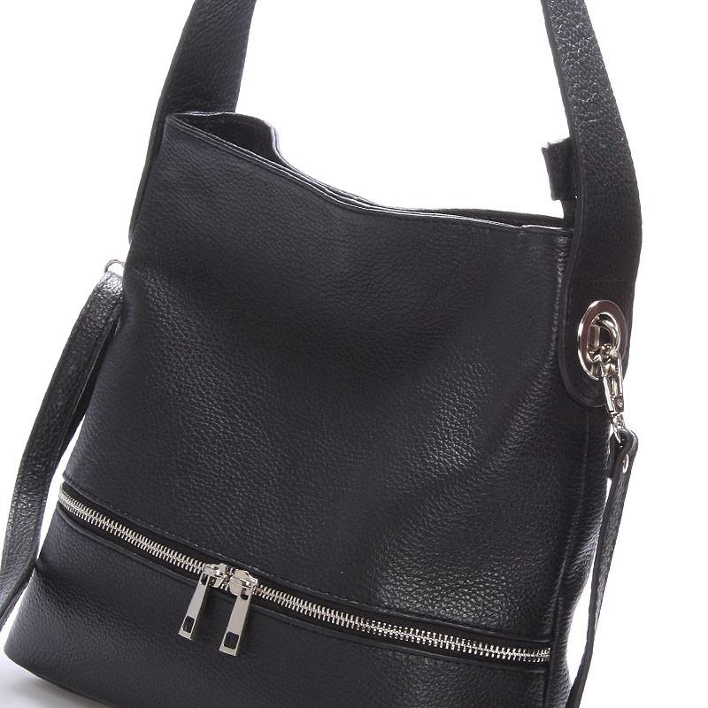 1249953b77 Dámská kožená kabelka přes rameno černá - ItalY Miriam - Kabea.cz
