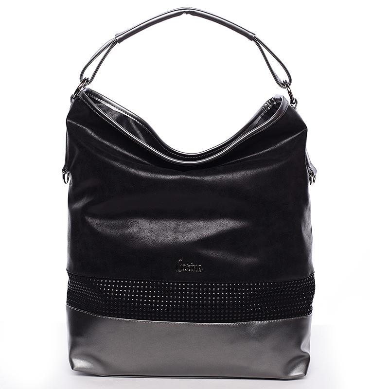 Elegantní velká dámská kabelka černá - Carine Aurelie - Kabea.cz aa4cc3808ec