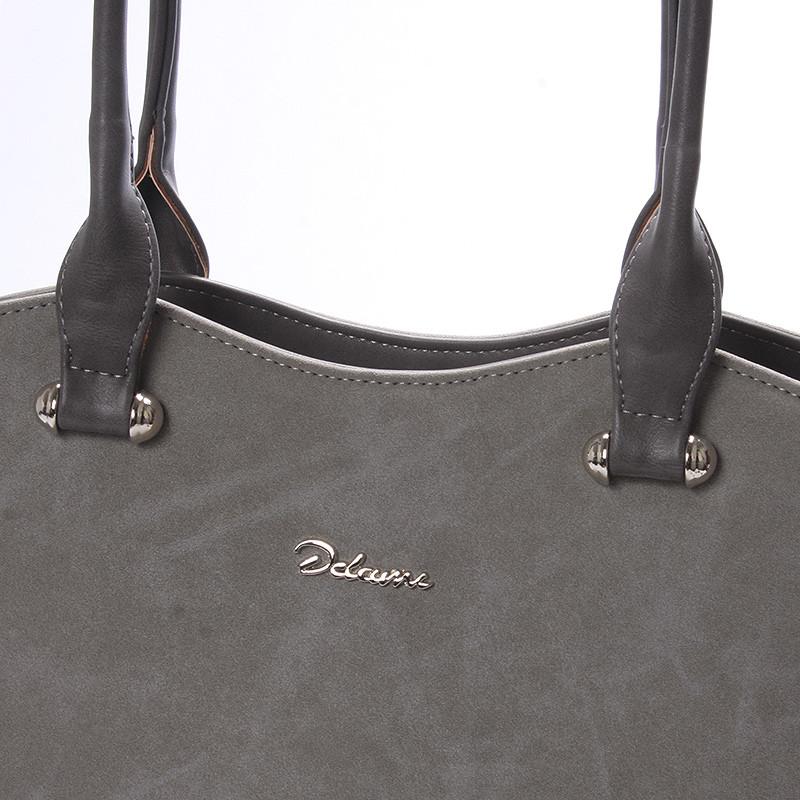 a9bade9d53 Elegantní semišová kabelka přes rameno šedá - Delami Brigitte - Kabea.cz