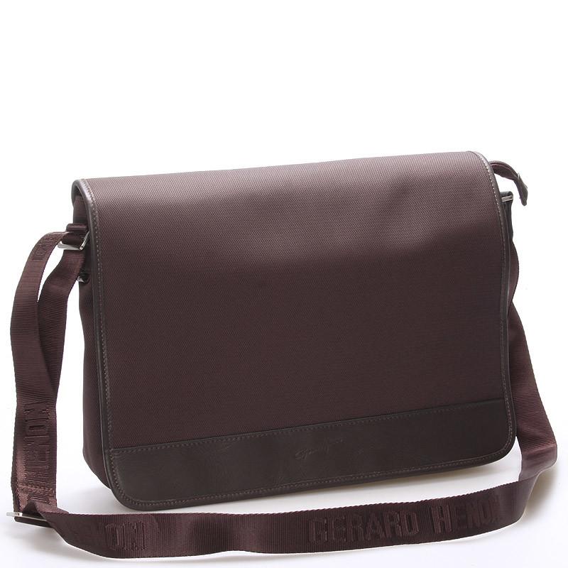 bf90e417eb Pánská elegantní taška přes rameno hnědá - Gerard Henon Laurent ...